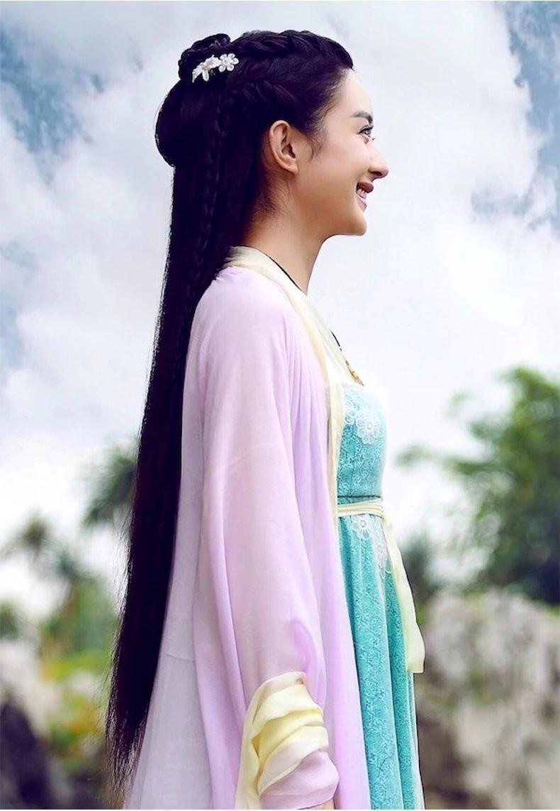 新款贵妃花千骨赵丽颖白字画汉服同款古装仙女公主摄影表演服