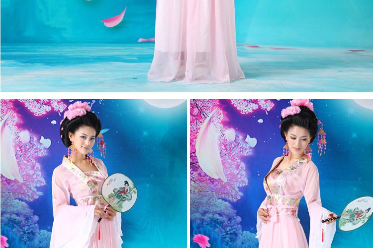 古装服装仙女汉服女装性感古装女舞台演出服贵妃装古筝演出