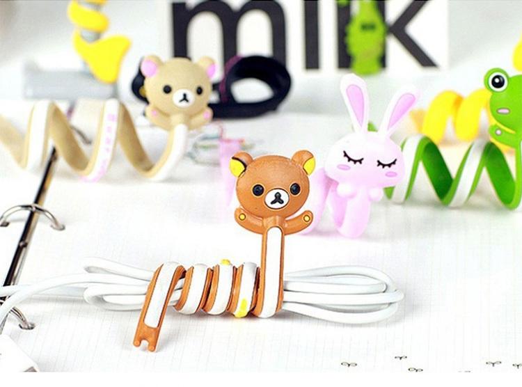 q版可爱动物系列长条绕线器/理线器/卷线器/集线器