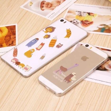 【手机贴纸 可爱卡通动物农场手机立体泡泡贴纸】-无
