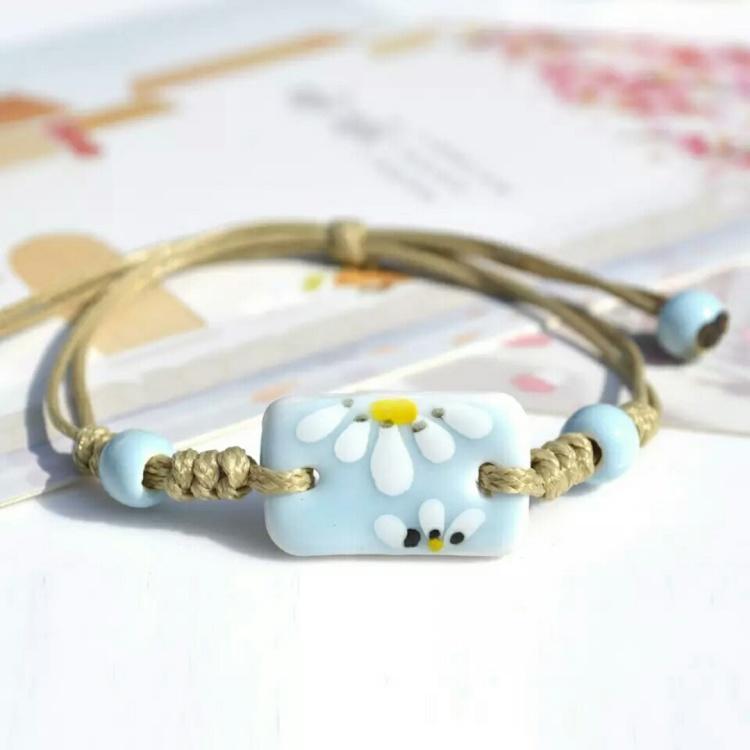 【方块年华】小清新时尚手链女手工制作绘画陶瓷首饰