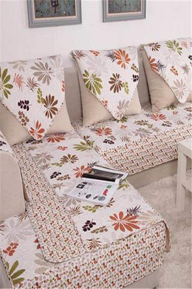 沙发垫 田园布艺时尚皮沙发巾