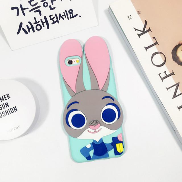 【疯狂动物城朱迪兔子苹果6s手机壳硅胶iphone6
