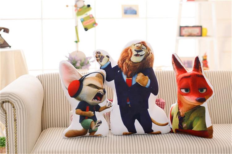 【疯狂动物城电影同款尼克狐狸朱迪兔子3d抱枕】