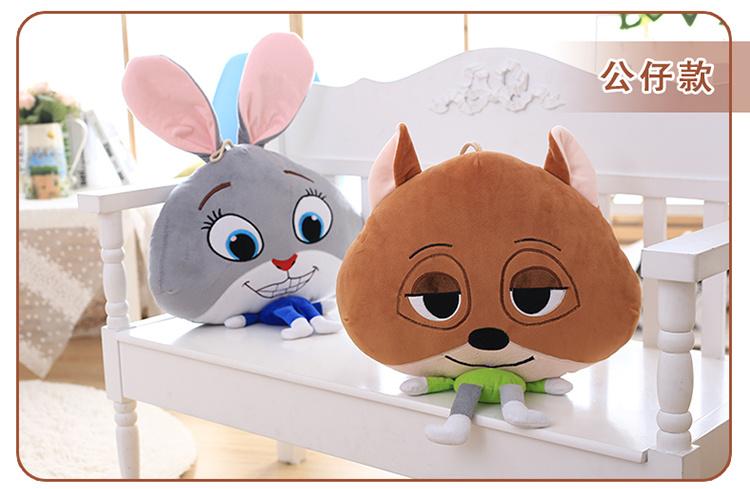 【疯狂动物城~狐狸兔子抱枕靠垫三合一】-null-家居