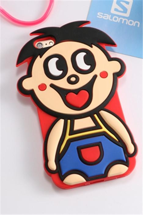 旺仔苹果6保护壳iphone6plus手机套 可爱卡通硅胶套图片