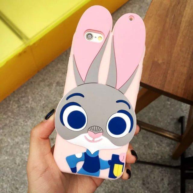 【粉嫩朱迪兔子苹果6手机软壳】-配饰-3c数码配件