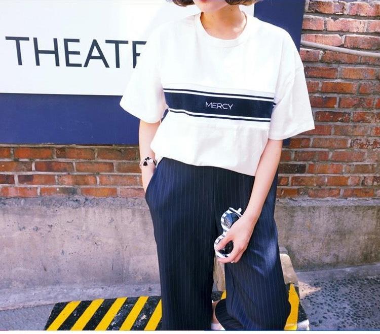 【不潮不要钱韩国ulzzang原宿bf风圆领t恤】-衣服-鞋