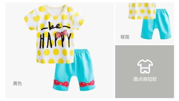 男童装女宝宝夏装婴儿童卡通短袖短裤衣服女童