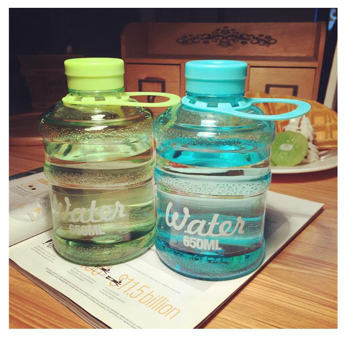 【韩国创意个性水瓶饮水机水桶塑料水杯子学生运动小
