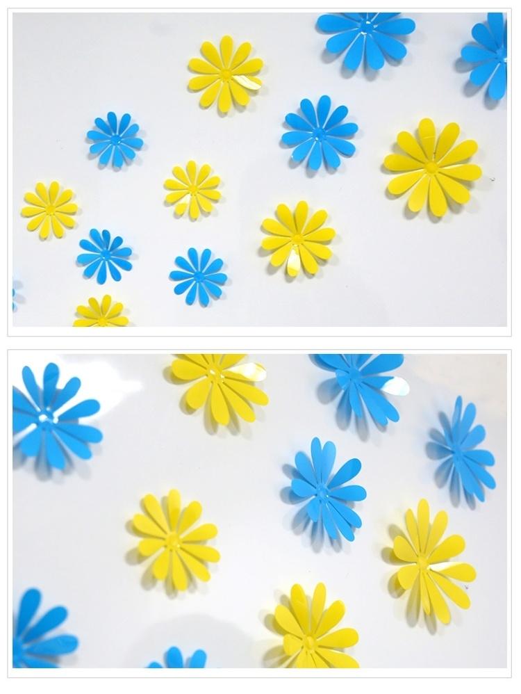 【沙發歐式小花3d立體客廳臥室冰箱柜子仿真純色花朵