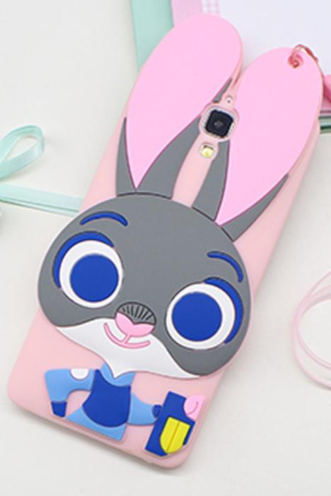 【疯狂动物城朱迪兔小米4c红米note3手机壳红米3硅胶