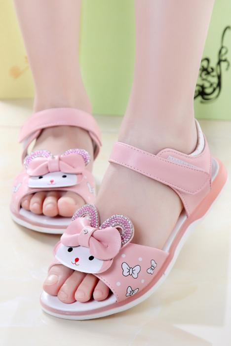 【(彩虹)2016年夏季新款童鞋可爱公主鞋儿童女童凉鞋