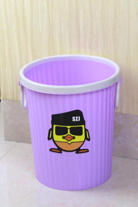 无盖带压圈创意垃圾桶 厨房卫生间家用垃圾桶 塑料纸篓垃圾筒