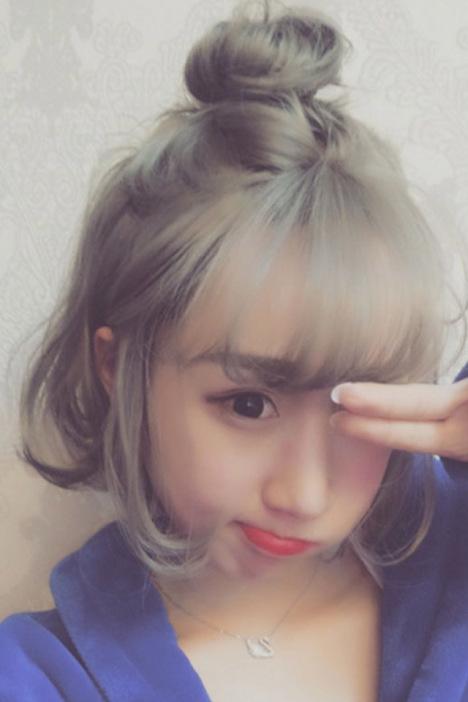【假发女短发bobo大头皮半丸子蓬松假发空气刘海内扣图片