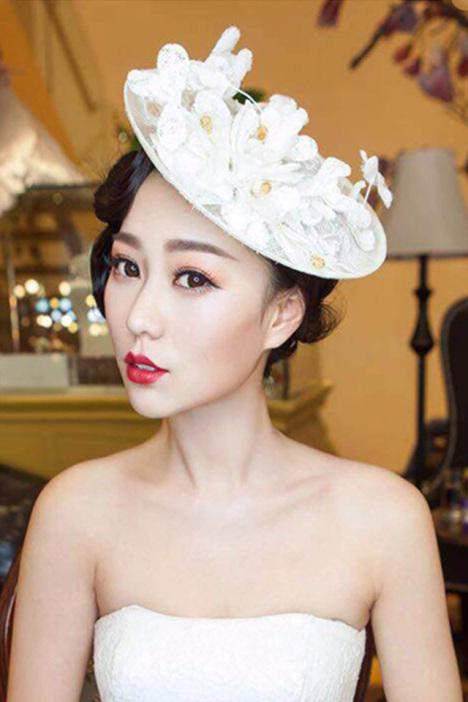 欧式新娘手工亚麻森女网纱婚纱礼帽子影楼拍照摄影造型头饰发饰品